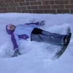 Fiona's second try at making a snow angel