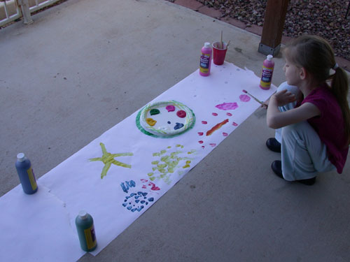 Fiona's art studio
