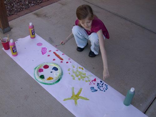 Fiona painting