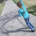 I think Fiona is dancing through the park