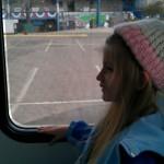 Enjoying the bus ride